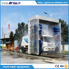 container truck, coach, bus and van vehicles washing system