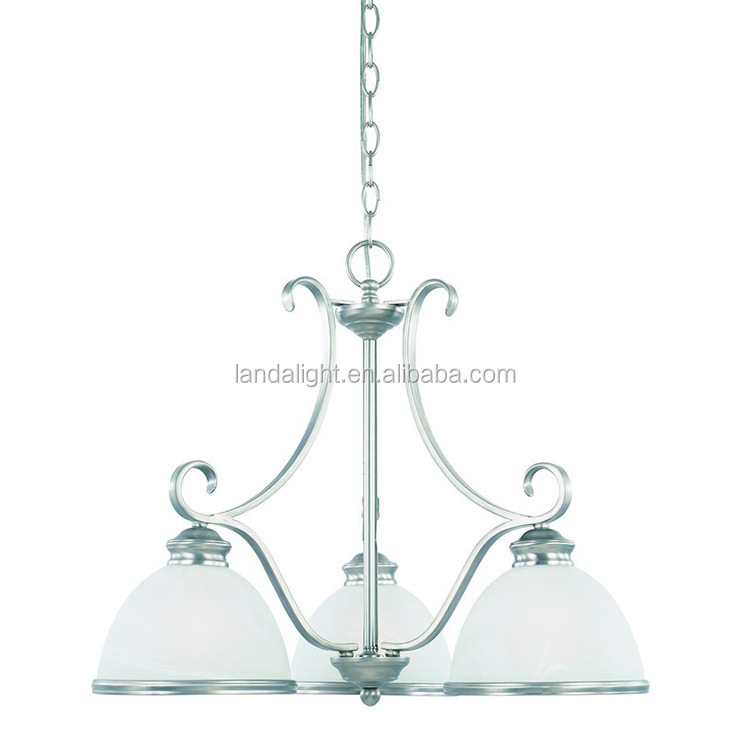 contemporary chrome finished white glass shade suspension pendant lights on Alibaba Express