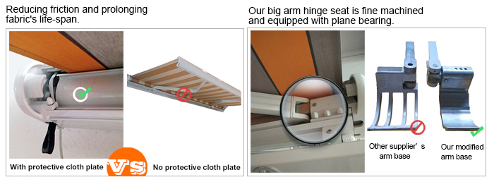 Motorized Full Cassette Retractable Awning with Operational Ceiling Light