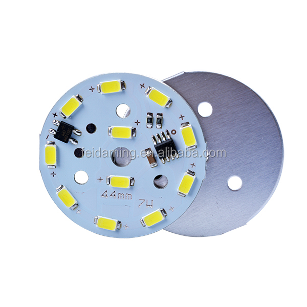7w 10w led circuit board 220v round bulb pcb with SMD5730 epistar chip