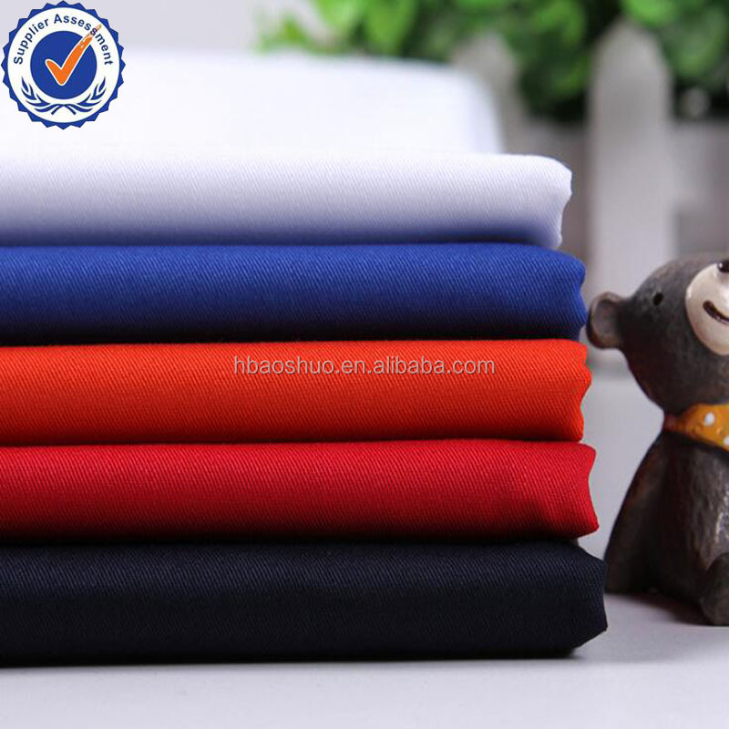 21*21 108*58 T/C 80/20 polyester/cotton fabric wholesale multi color twill fabric for uniform