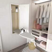 Wall Mounted Folding Built In Ironing Board In Cabinet