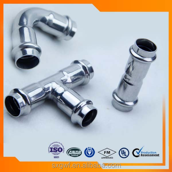 Galvanization ISO4144 pipe fittings stainless steel JIS press coupling