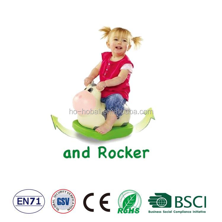 PVC inflatable kids rocking toy for outdoor play