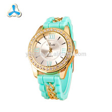 Promotional fashion watches ladies,silicone lady watch