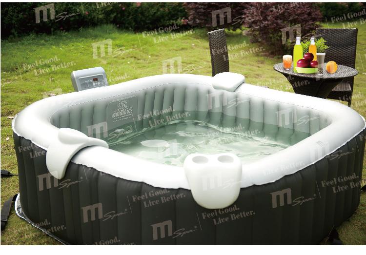Portable Inflatable Spa Pool Square Hot Tub Bubble Spa