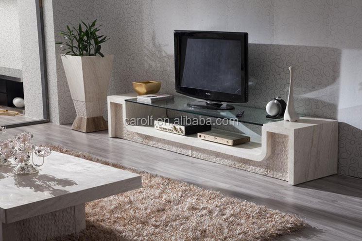 Italy Granite design luxury travertine TV stand on sale