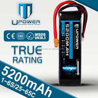 Upower High Power rc car battery packs 6S1P 22.2V 5200mAh 35C Lithium Ion