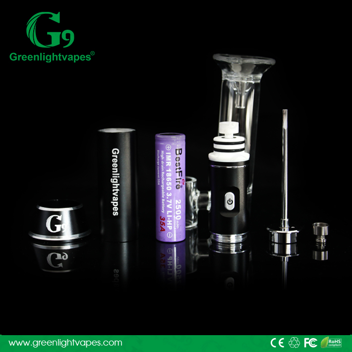 Authentic dab pipe electric vaporizer and hot wax machine g9 h enail grerenlight vapes henail