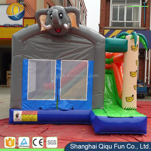 Beach Party Small Inflatable Indoor Bounce With Free Blower / Customized Bounce Castle For Kiddie / Giant Air Jumping House