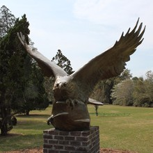 High Quality metal reproductions life size eagle bronze sculpture