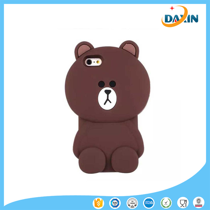 Cool bear 3D silicone phone case for iphone5
