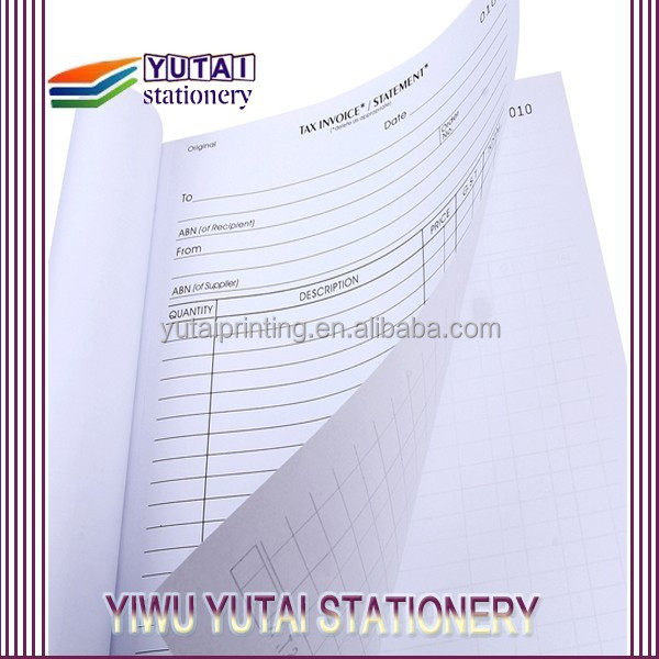 Printing financial bill,invoice print bills with copy