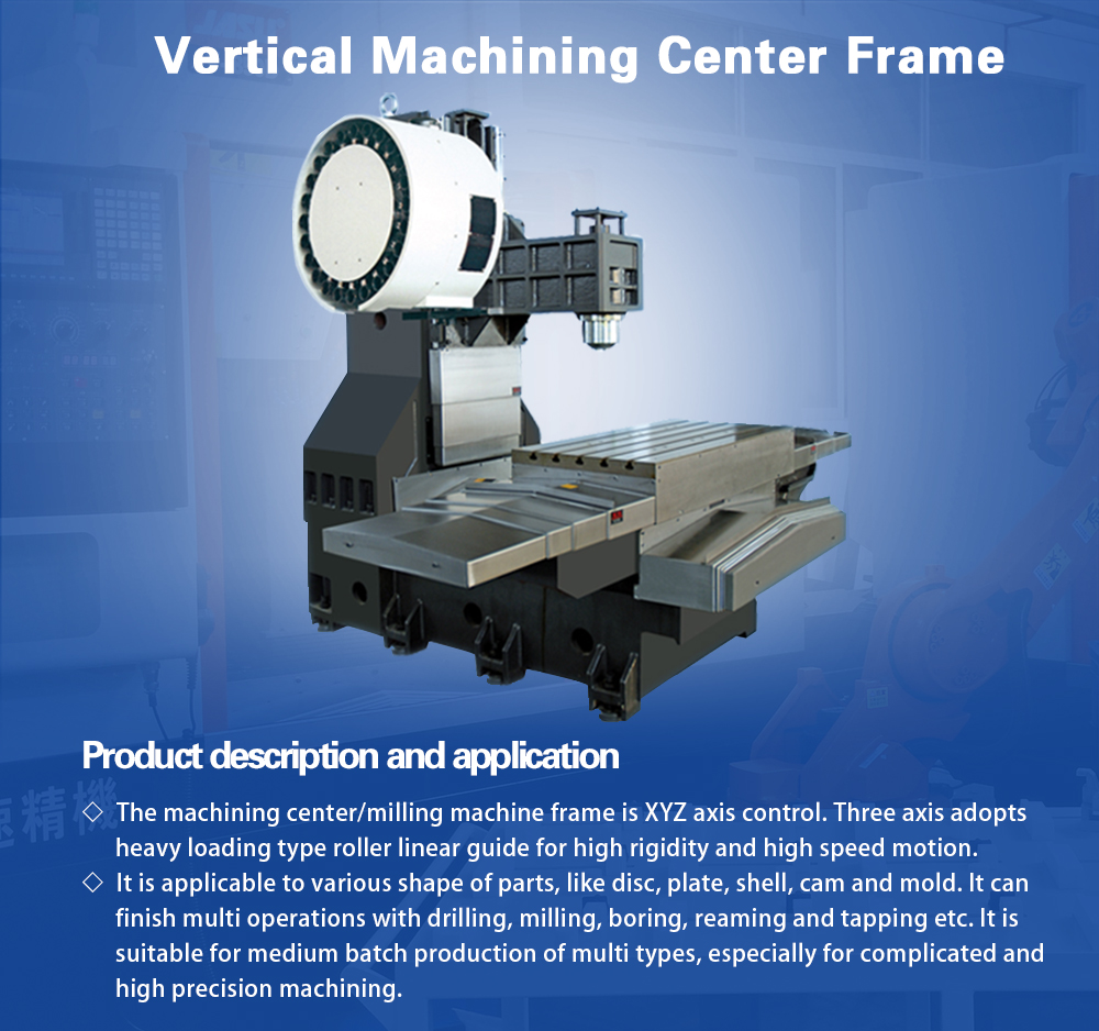 VMC Frame V-1160 CNC Vertical Machine Center Casting Frame