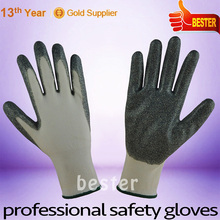 China supplier manufacture best quality rubber coated color change gloves