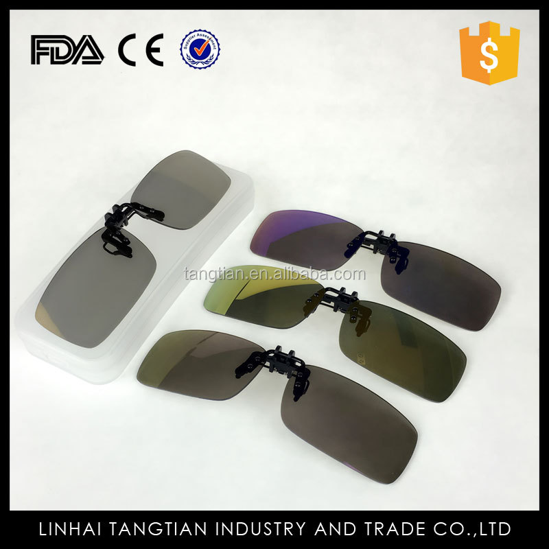 TTY-1103 High quality polarized lens sunglasses clip clip on sunglasses driving night vision polarized clip glasses