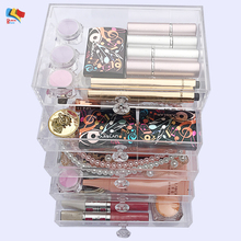 cosmetic case storage acrylic makeup organizer with drawer