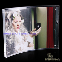 Curved Double Side Clear Acrylic Photo Frame Picture Frame with Magnetics ST-PFCM5070 E