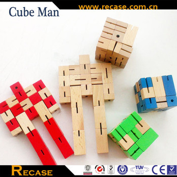 Intelligent Rotot Toys Robot Toys Wooden Toys for Kids Robot Cube Small Games