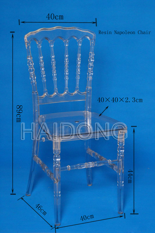Light Gold PC Event Wedding Resin Napoleon Chair