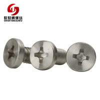 M1 M2 M3 M4 M5 M6 M8 Flat Thin Head Phillips Screw 304 Stainless Steel CD Pattern CNC Screws