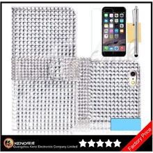 Keno Customized Wallet PU Leather Cell Phone Case for iPhone 6, for iPhone 6 Bling Diamond Mobile Phone Case