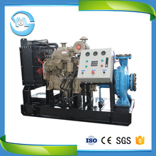 Horizontal single suction centrifugal engine pump for sewage/slurry