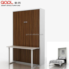 Strong steel frame QF124SZ smart bedroom furniture wall bed