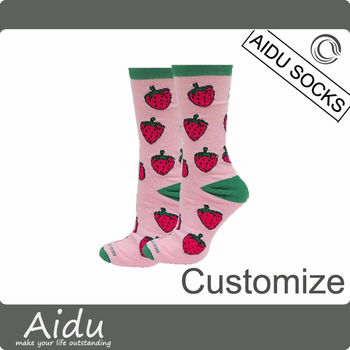 Luxury Italy Design Best Quality 200 Needles Thick Cotton Knitted Woman's All Over Floral Pattern Crew Socks