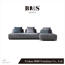 Modern L shaped fabric modular couch design furniture sofa living room