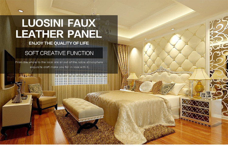 3d Leather Wall Panel Decorative - Buy 3d Leather Wall Panel,Wall ...