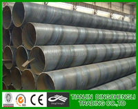Low price ASTM a36 mild round spiral welded steel pipe price per meter/spiral steel tube/spiral tube machine