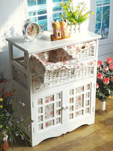 Perfect home organizer woven drawer basket storage cabinet plastic drawers