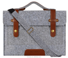 Felt Wool Slim 13-13.3Inch Laptop Carry on Handbag Sleeve Case Cover Protector Shoulder Bag Tote Mosiso On Sale