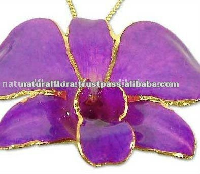 Real Orchid Pendant