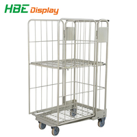 Insulated metal steel wire mesh cargo storage roll container