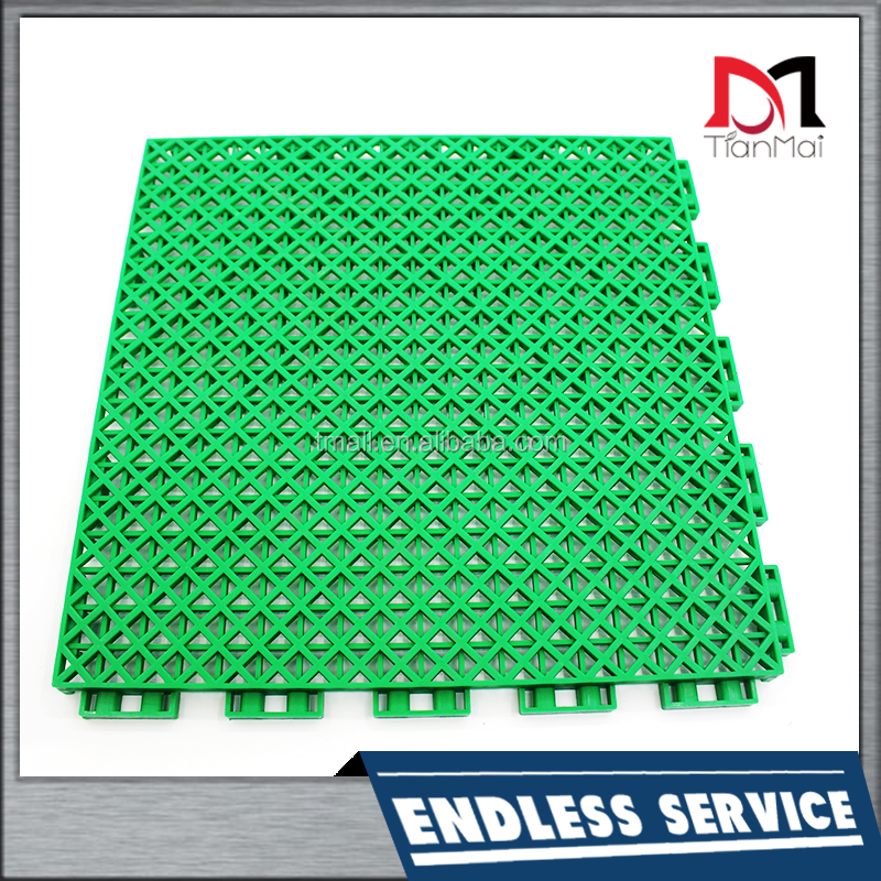 Hot sale interlocking outdoor PP floor for football court with lock