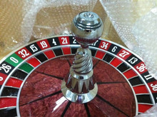 "High-end casino Russian solid wood 32"" roulette wheel"