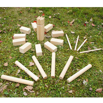 2017best sale Kubb Game Set 21-Piece Yard Toss Fun the Viking Lawn Game