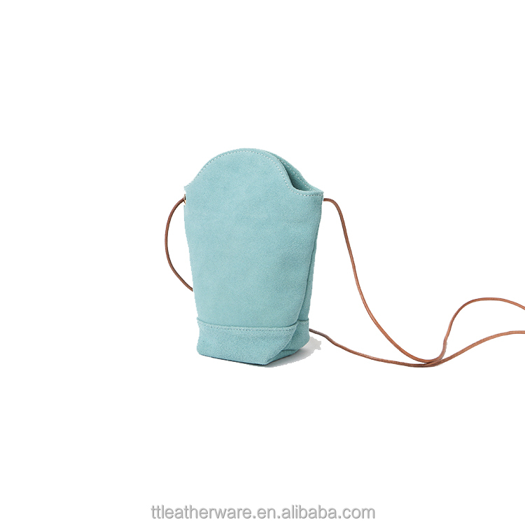 Woman Irregular Little Phone Bag Crossbody Suede Leather Bag