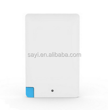 Plastic credit card power bank 4000mah , mobile phone power bank, card charger