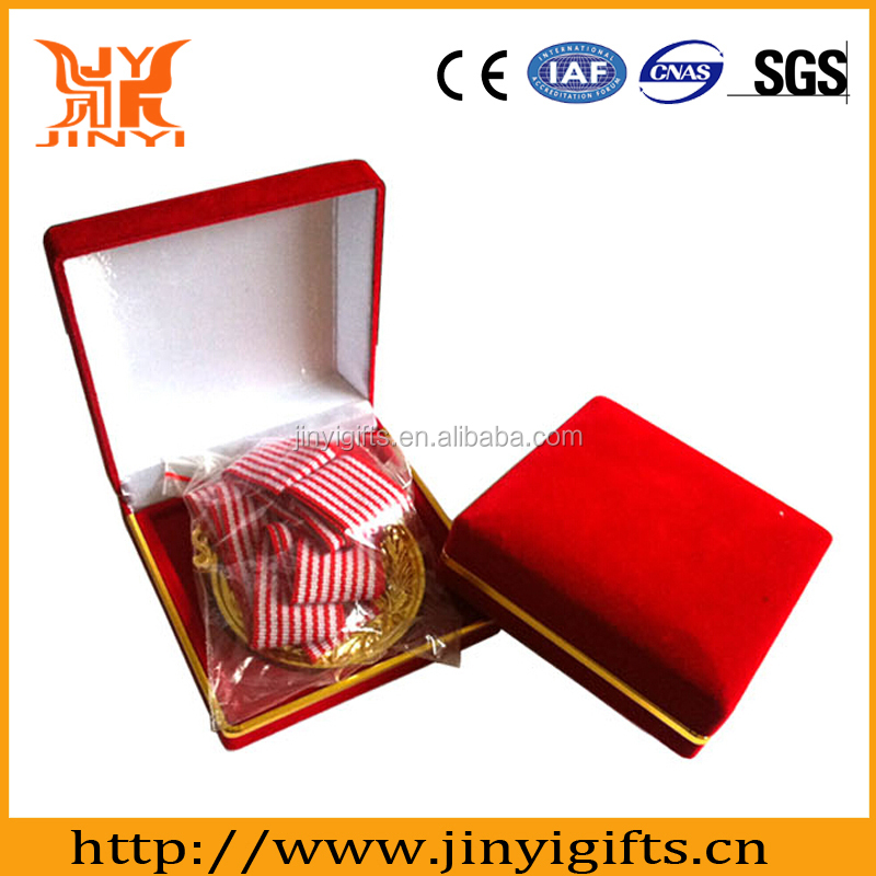 Factory made cheap price custom military medal with medal box