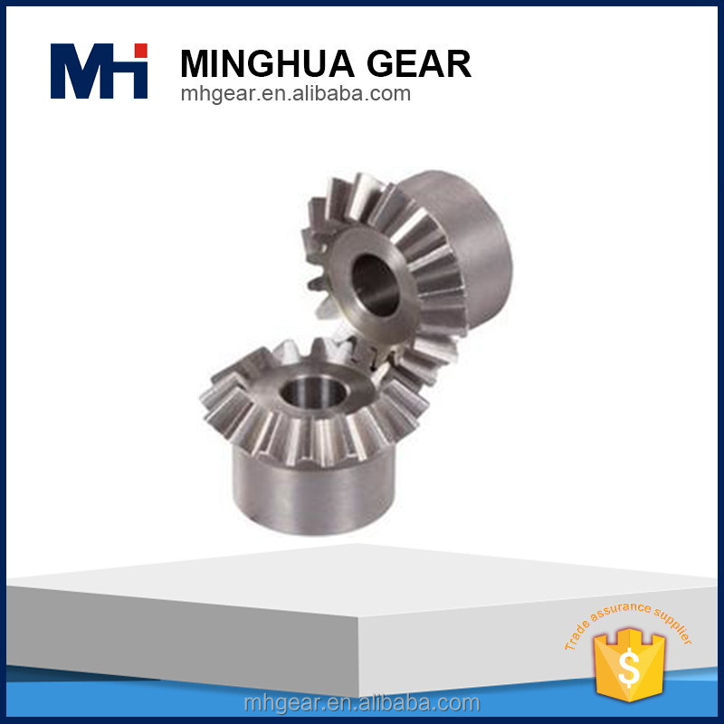 custom spiral bevel gear set and arc tooth gear shaft for motorcycler