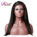 Wholesale cuticle aligned 100% virgin brazilian straight yaki human hair machine wig