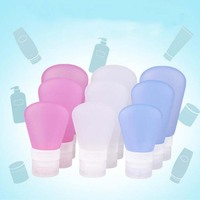 Cosmetics Sub-Bottling Different Sized Silicone Travel Bottles