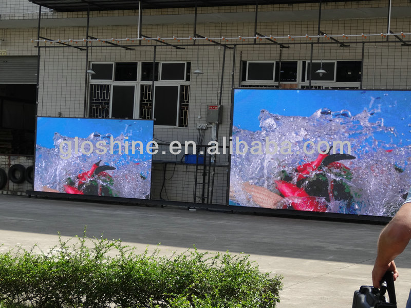 outdoor led screen alibaba china shenzhen gloshine P10 led screen xxx video play led screen