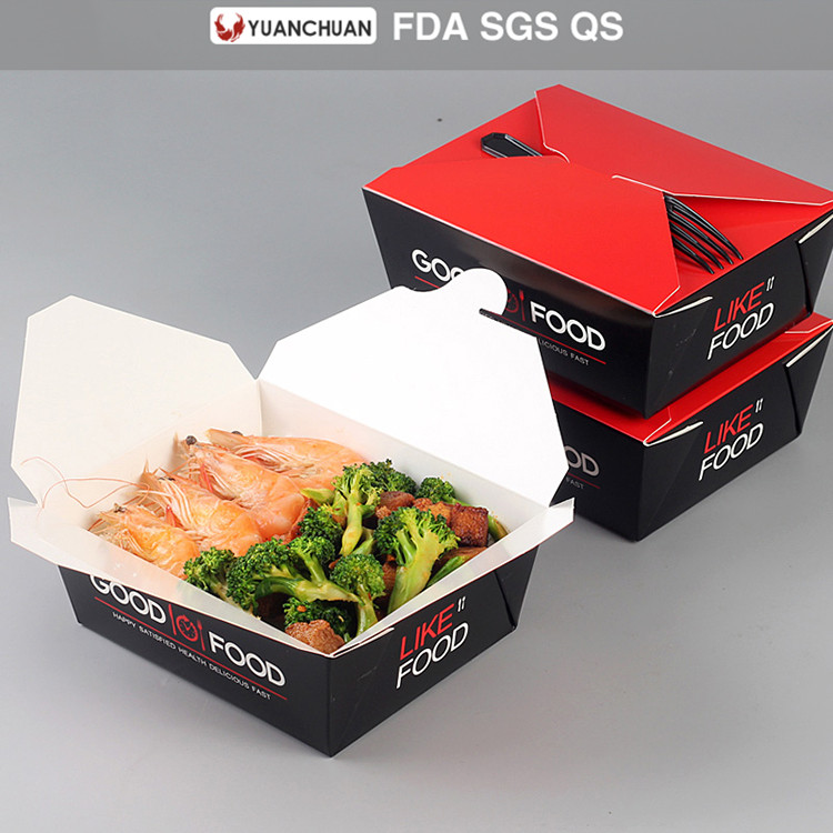 Full color white cardboard paper lunch box