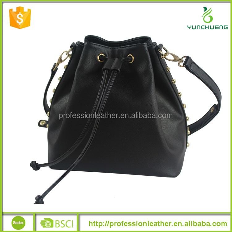 Low Price Young Bags PU Leather Drawstring Handbag, DK Handbags