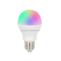 9 kinds of dynamic models 2.4G E27 6W RGBW LED bulb with easy installation