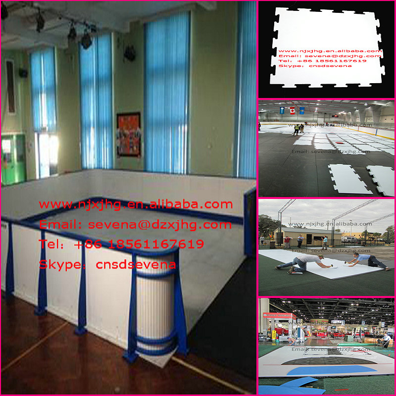 hot sale complete set synthetic ice hockey shooting rink skating plastic boards/barrier/fence